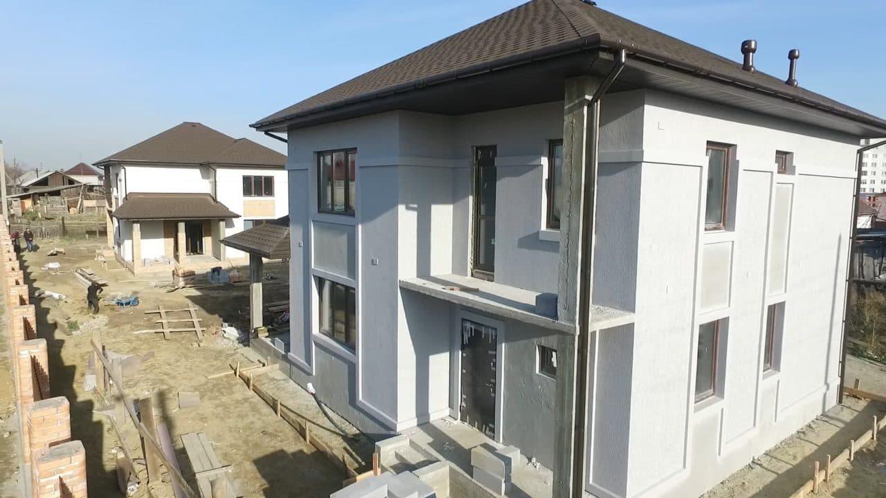 Строительство двух двухэтажных домов из газобетона в г. Ангарск - Фасад 2
