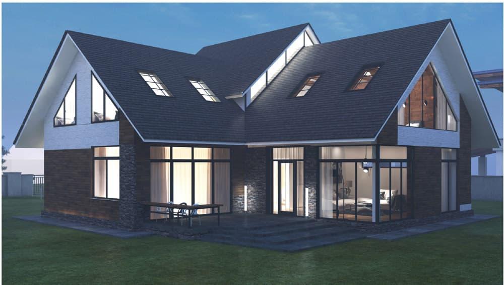 Двухэтажный индивидуальный жилой дом в СНТ Ручеек - Фасад 8