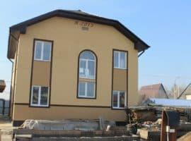 Двухэтажный дом из газобетона в Иркутске 126 кв.м. - Фасад 1