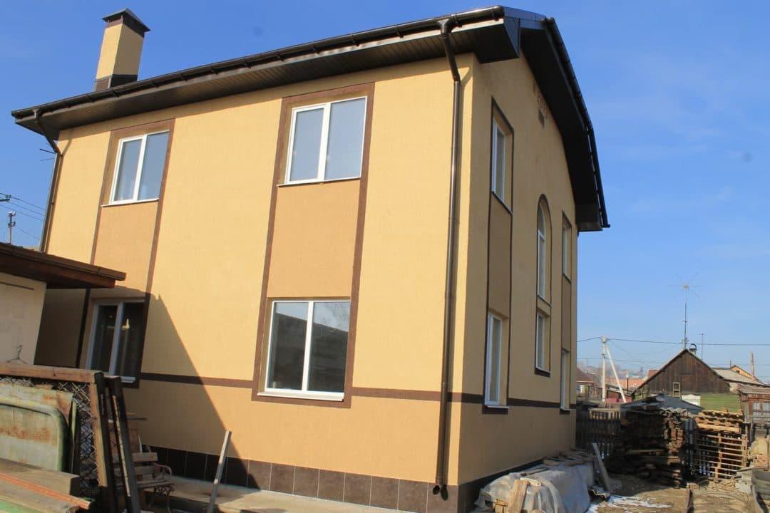 Двухэтажный дом из газобетона в Иркутске 126 кв.м. - Фасад 3