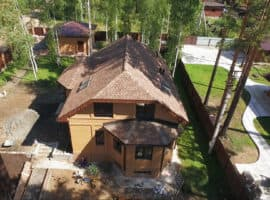 Дом из газобетона на 26 км. Байкальского тракта с обустройством участка - Фасад 1