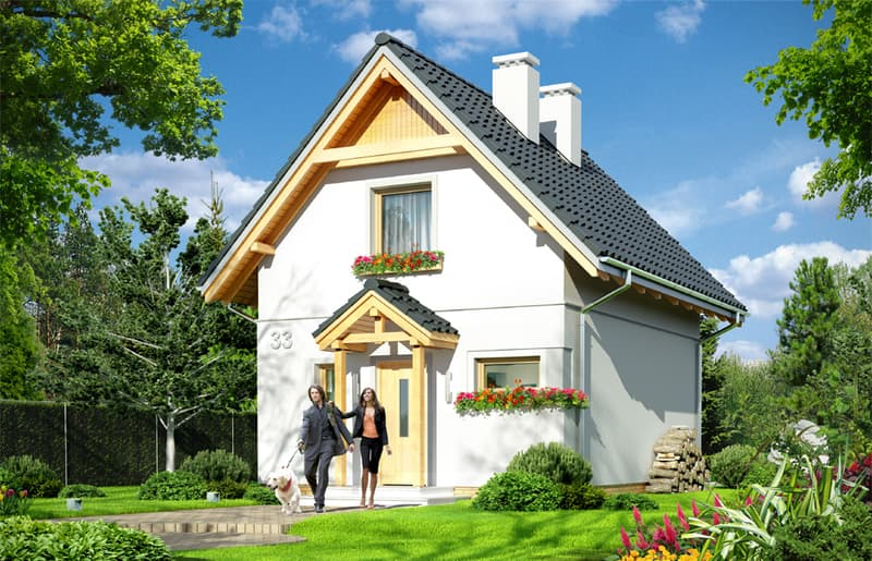 Дом с мансардой Лео фасад 1