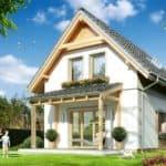 Дом с мансардой Лео фасад 2