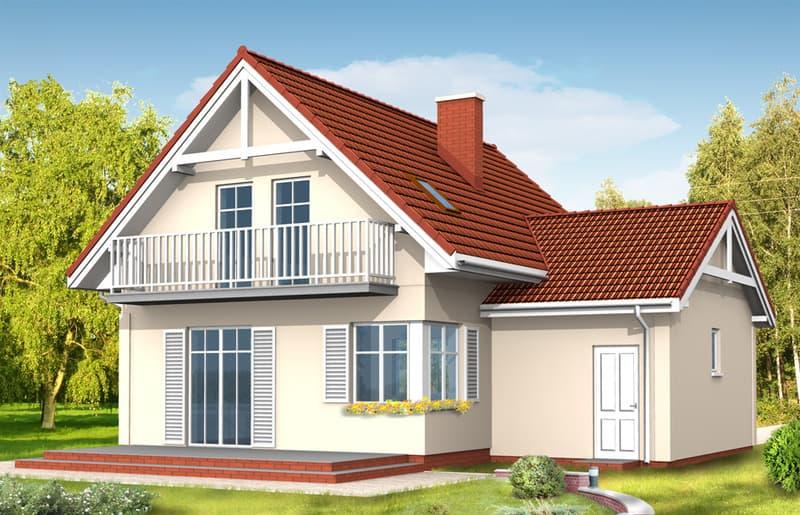 Дом с мансардой Алиция фасад 2