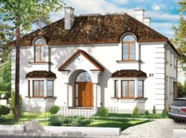 Дом Кассиопея планировка фасад 1
