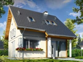 Дом с мансардой Викинг фасад2