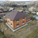Двухэтажный дом 200 кв.м. с гаражом и фасадом из облицовочного кирпича фасад 3
