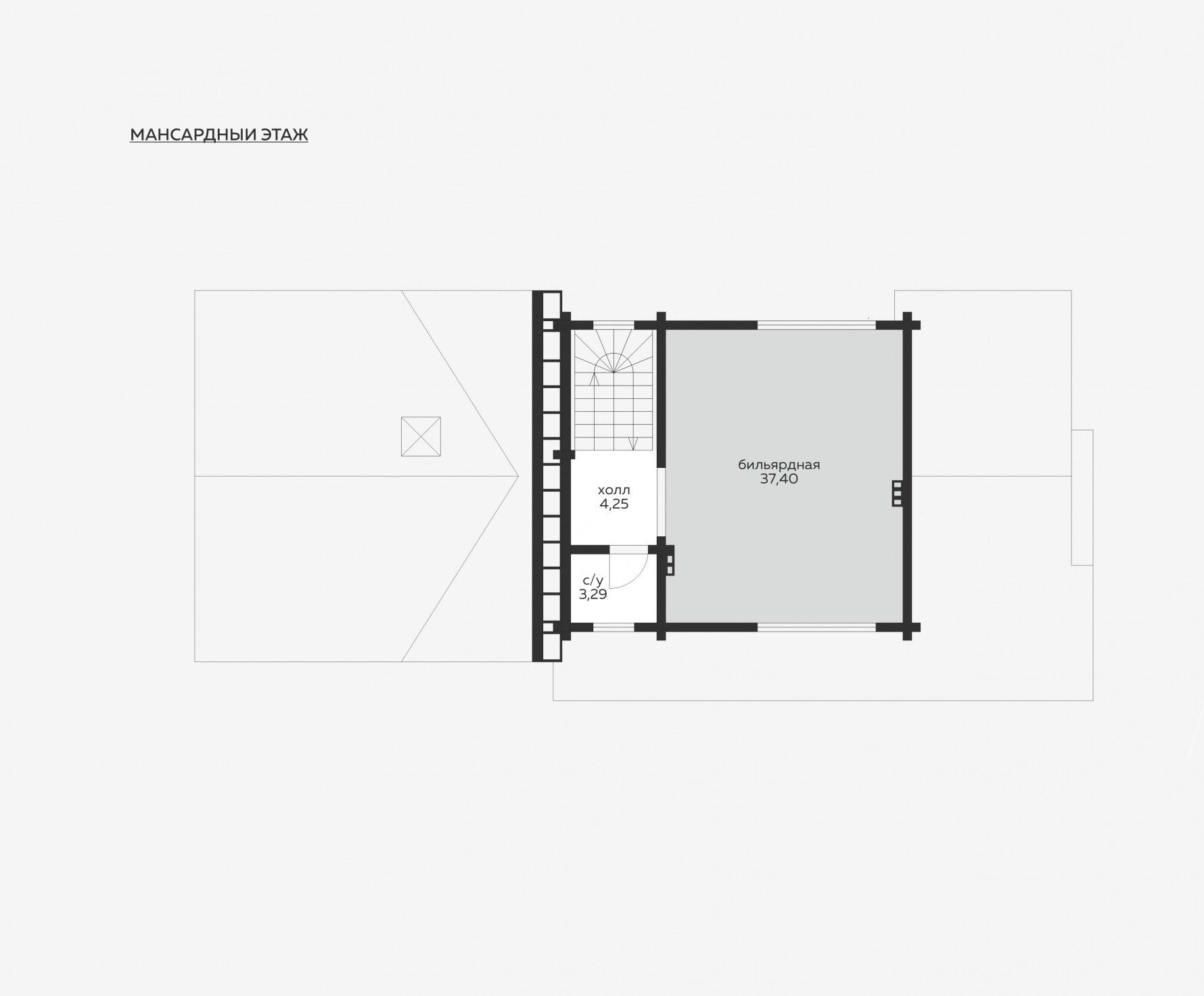 Планировка мансардный этаж