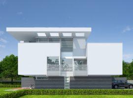"Проект дома с гаражом на 2 авто ""Бостад"" фасад 1"