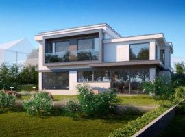 """Проект дома в современном стиле """"Кладно"""" фасад 1"""