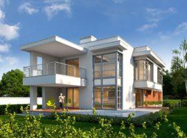 "Проект дома с пятью спальнями ""Кивик"" фасад 1"