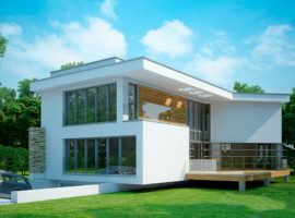 """Проект дома с гаражом в подвале """"Кристианстад"""" фасад 1"""