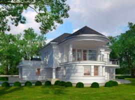 "Проект округлого дома ""Кунгэльв"" фасад 1"