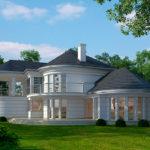 "Проект округлого дома ""Кунгэльв"" фасад 3"