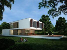 "Проект дома с бассейном ""Сигтуна"" фасад 1"
