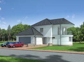 "Проект дома с тремя спальнями ""Вестервик"" фасад 1"
