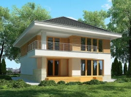 """Проект дома с тремя спальнями """"Гиславед"""" фасад 1"""