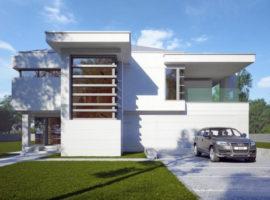 "Проект дома с двумя спальнями ""Стренгнес"" фасад 1"