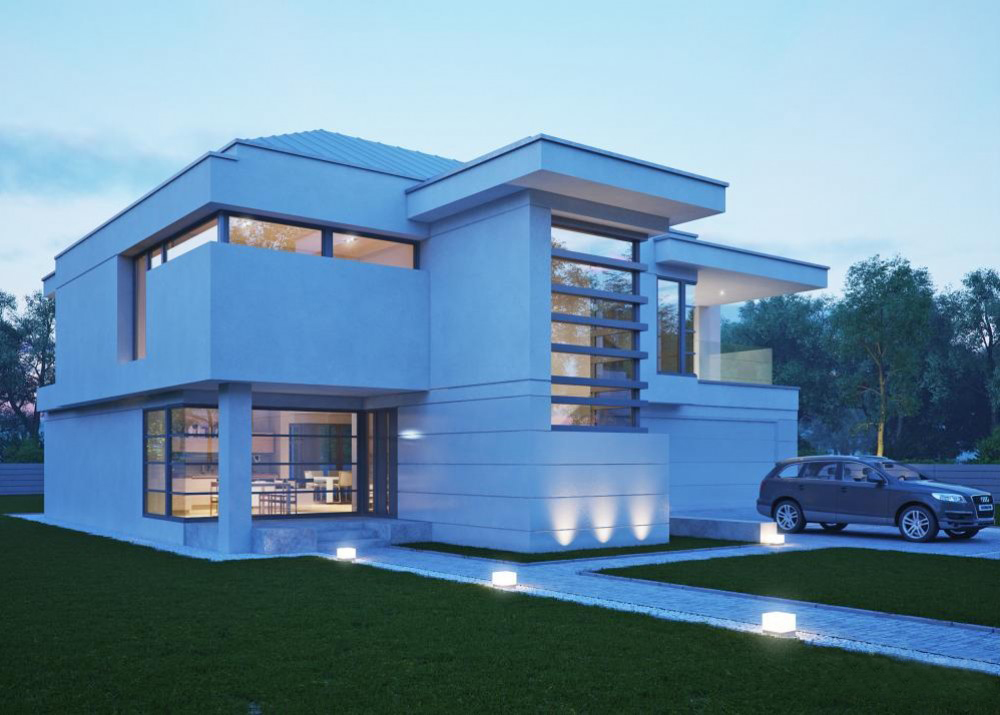 "Проект дома с двумя спальнями ""Стренгнес"" фасад 2"