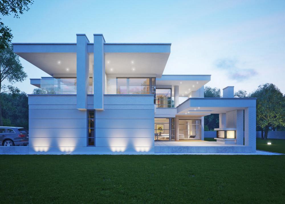 "Проект дома с двумя спальнями ""Стренгнес"" фасад 3"