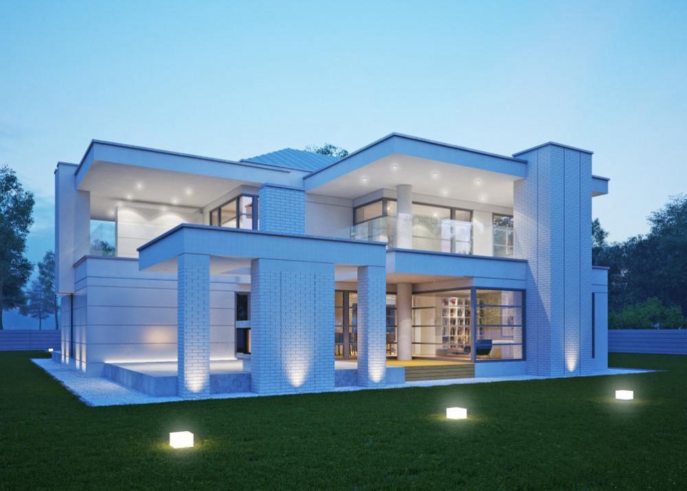 "Проект дома с двумя спальнями ""Стренгнес"" фасад 4"
