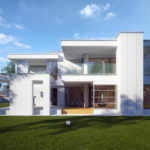 "Проект дома с двумя спальнями ""Стренгнес"" фасад 5"