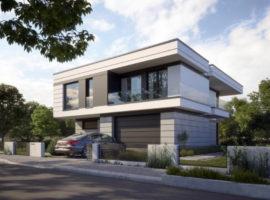 """Проект дома с бассейном и гаражом на 2 авто """"Мальмё"""" фасад 1"""