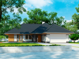 "Проект дома с тремя спальнями ""Кируна"" фасад 1"