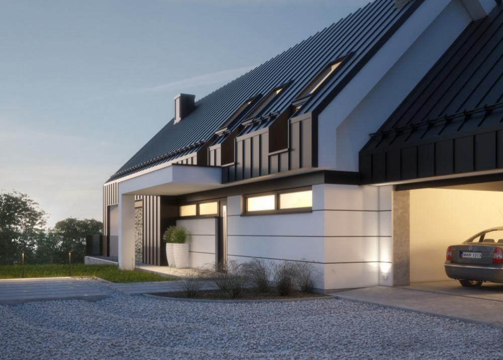 """Проект дома в стиле Barnhouse """"Лулео"""" фасад 2"""