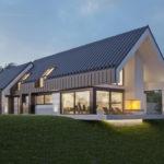 """Проект дома в стиле Barnhouse """"Лулео"""" фасад 3"""