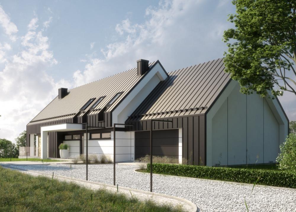 """Проект дома в стиле Barnhouse """"Лулео"""" фасад 4"""