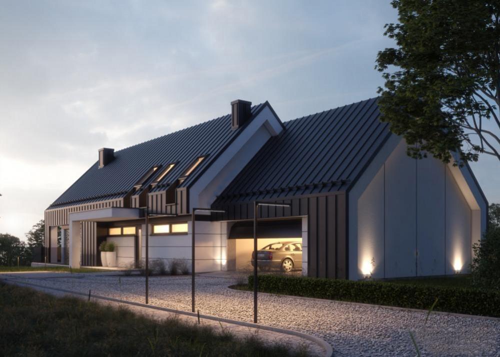 """Проект дома в стиле Barnhouse """"Лулео"""" фасад 5"""