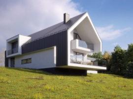 "Проект дома с гаражом на 2 авто ""Мутала"" фасад 1"