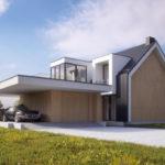"Проект дома с гаражом на 2 авто ""Мутала"" фасад 2"